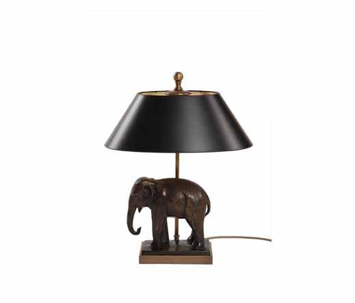 lampe elefant bronzegu figurenleuchten lampenmanufaktur. Black Bedroom Furniture Sets. Home Design Ideas