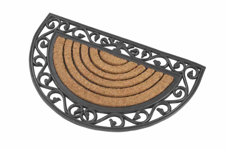 kokosmatte halbrund fussmatten von kai. Black Bedroom Furniture Sets. Home Design Ideas