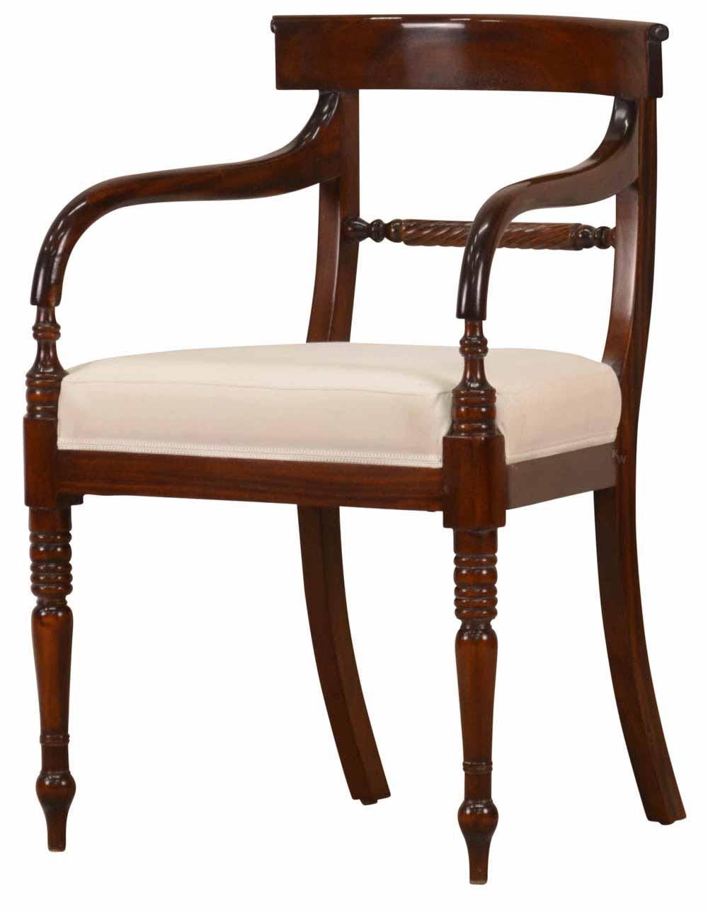 armlehner in mahagoni stilm bel von kai. Black Bedroom Furniture Sets. Home Design Ideas