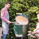 Big Green Egg Grill in Aktion