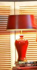 Edle Lampe in Rot