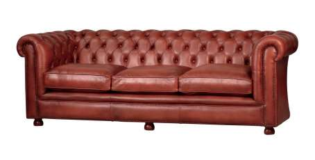 Traditionell handgefertigtes Chesterfield Sofa