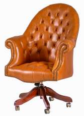 Chesterfieldsessel Executive Harold Polsterung light brown