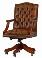 Gainsborough Swivel Edward Polsterung dark brown