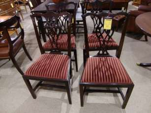 4 antike Stühle Mahagoni Set of 4 georgian dining chairs
