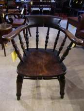 Captains Chair Eiche antik Late Victorian Smokers Chair