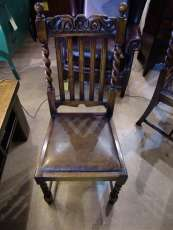 4'er Set Eichenstühle antik Set of 4 Jacobean Style Chairs