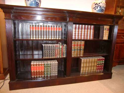 Architectural Open Bookcase Regency