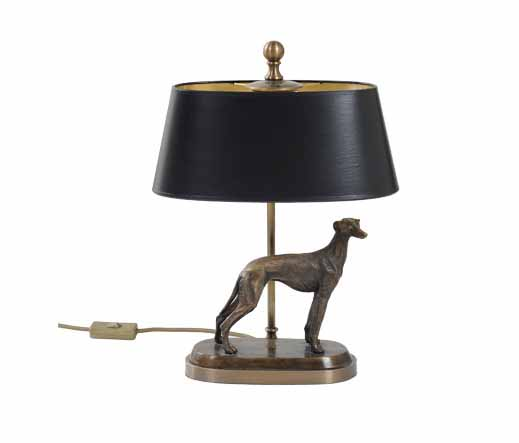 tischlampe mit windhund lampen von kai. Black Bedroom Furniture Sets. Home Design Ideas
