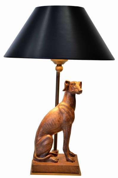 figurenleuchte mit windhund lampen von kai. Black Bedroom Furniture Sets. Home Design Ideas