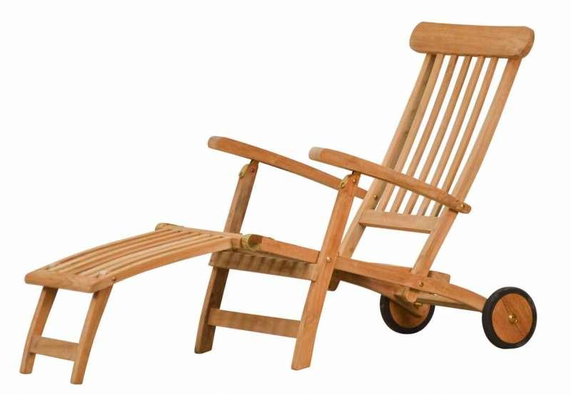 Deckchair mit Rädern - Teak Gartenmöbel von kai-wiechmann.de