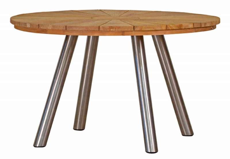 Tischgestell Rund.Teaktisch Hamilton Rund Moderner Materialmix In Edler Optik