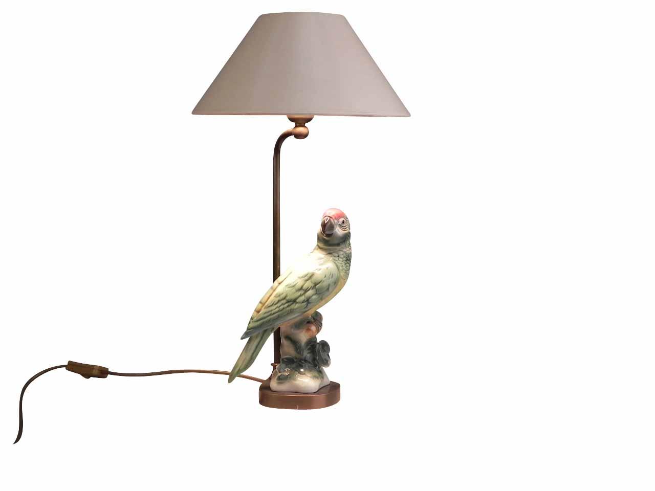 tischlampe mit buntem papagei lampen von kai. Black Bedroom Furniture Sets. Home Design Ideas