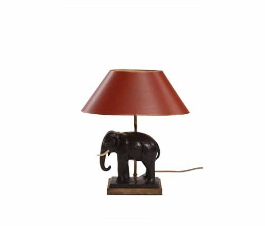 tischlampe elefant aus bronzegu lampen von kai. Black Bedroom Furniture Sets. Home Design Ideas