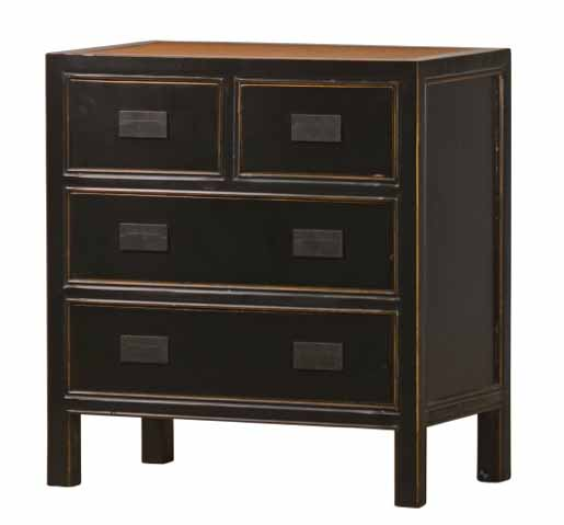 kommode klein in schwarz asiatika von kai. Black Bedroom Furniture Sets. Home Design Ideas
