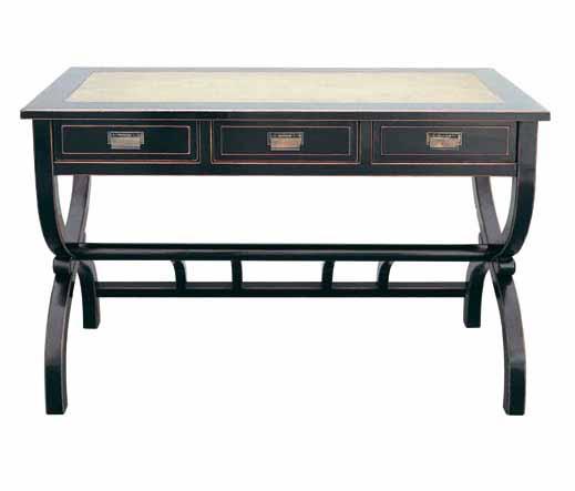 schreibtisch in schwarz asiatika von kai. Black Bedroom Furniture Sets. Home Design Ideas