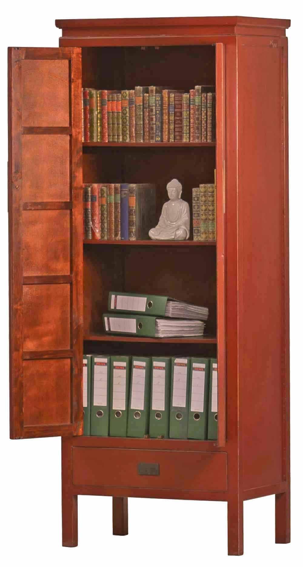 schrank f r aktenordner in rot asiatika von kai. Black Bedroom Furniture Sets. Home Design Ideas