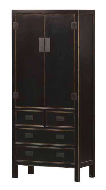 vorratsschrank in schwarz asiatika von kai. Black Bedroom Furniture Sets. Home Design Ideas