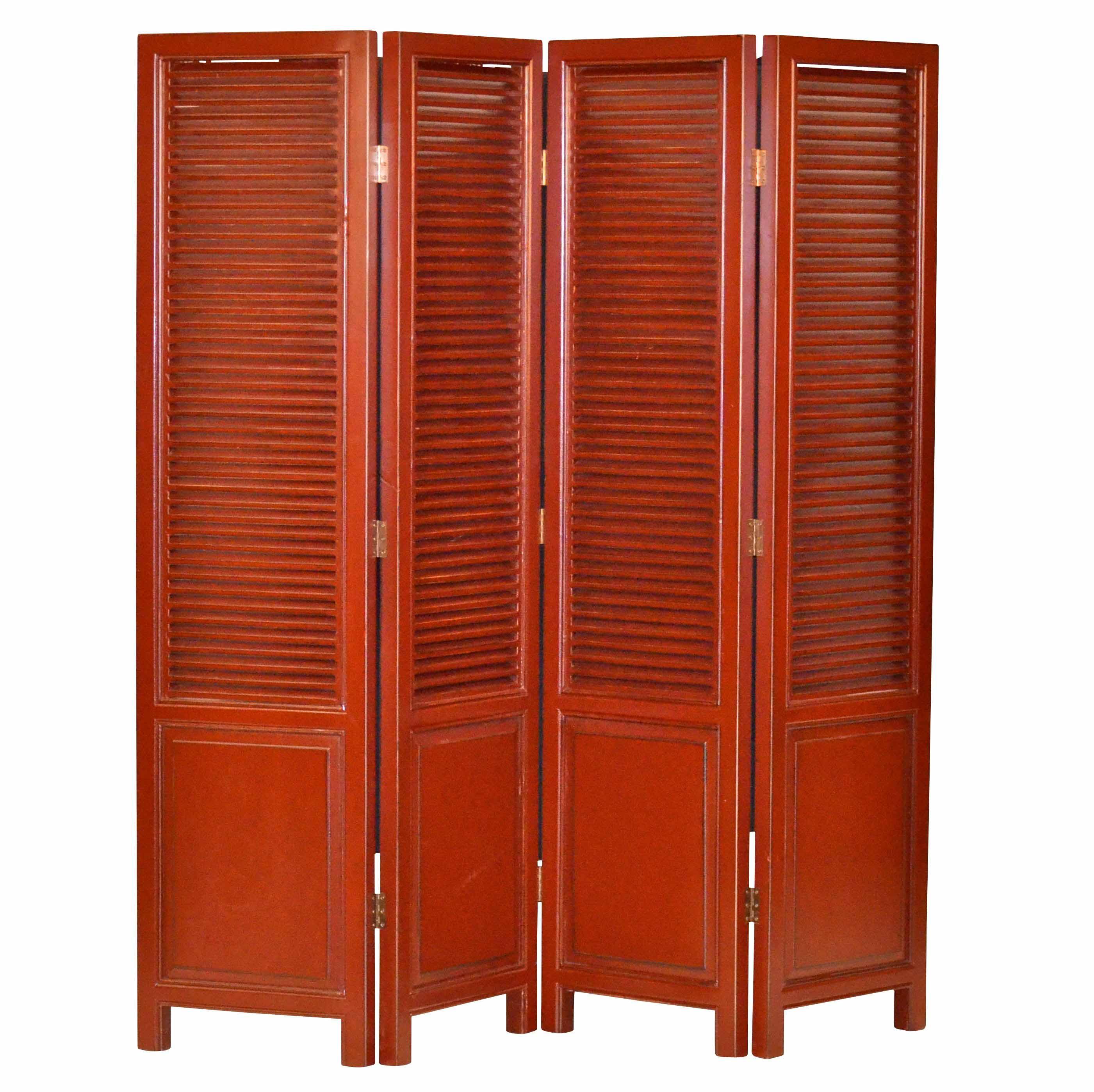 raumteiler in rot asiatika von kai. Black Bedroom Furniture Sets. Home Design Ideas