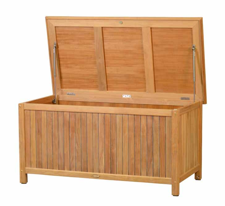 kissentruhe teak gartenm bel von kai. Black Bedroom Furniture Sets. Home Design Ideas