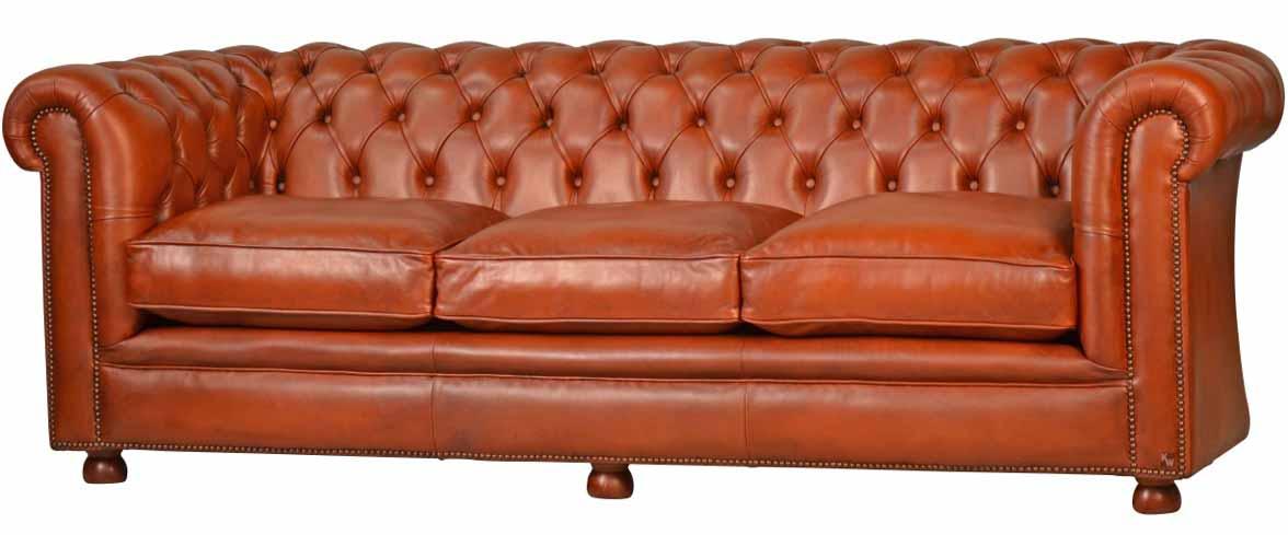 chesterfield 3 seat lederm bel von kai. Black Bedroom Furniture Sets. Home Design Ideas
