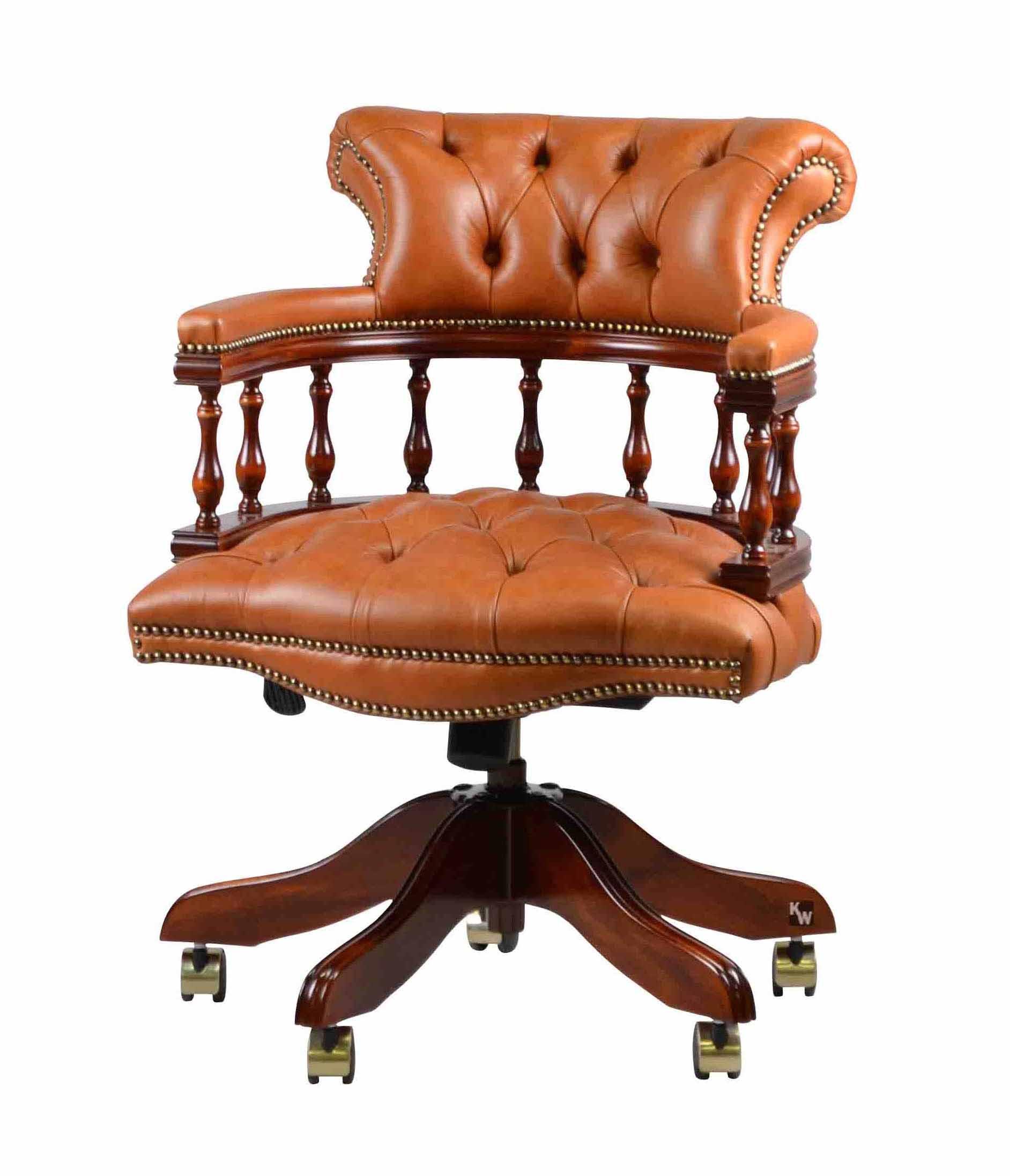 captain swivel hellbraun lederm bel von kai. Black Bedroom Furniture Sets. Home Design Ideas