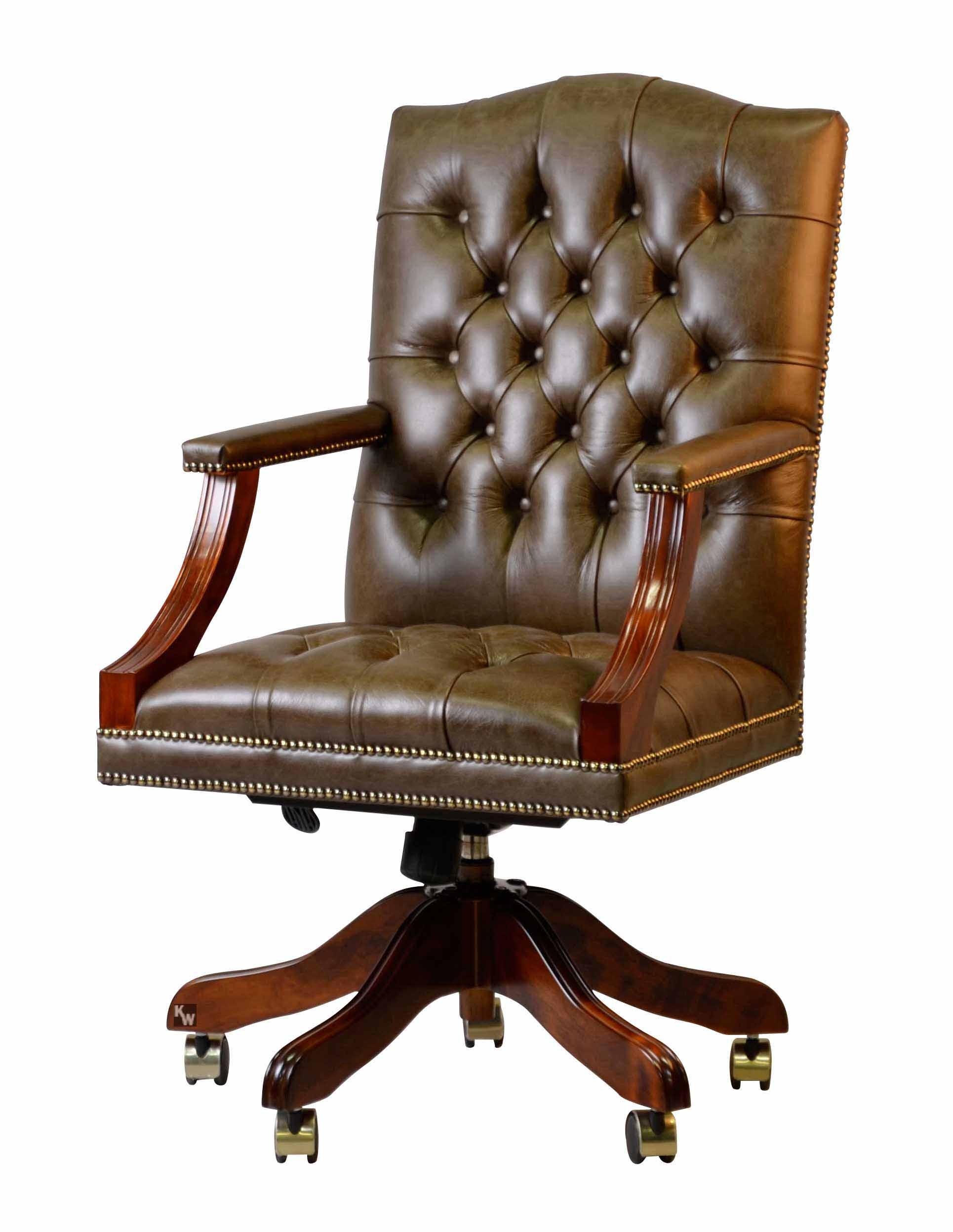 b rosessel in gr n lederm bel von kai. Black Bedroom Furniture Sets. Home Design Ideas