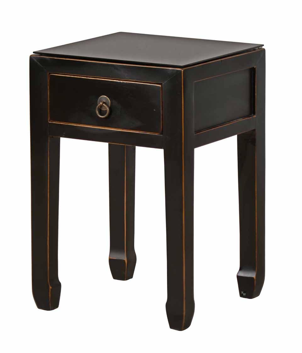 nachtschrank in schwarz asiatika von kai. Black Bedroom Furniture Sets. Home Design Ideas