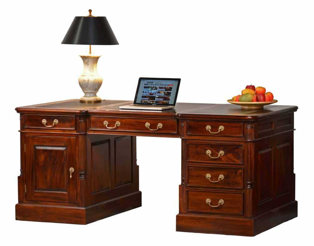 schreibtische pedestal desk englische stilm bel hamburg kai wiechmann. Black Bedroom Furniture Sets. Home Design Ideas