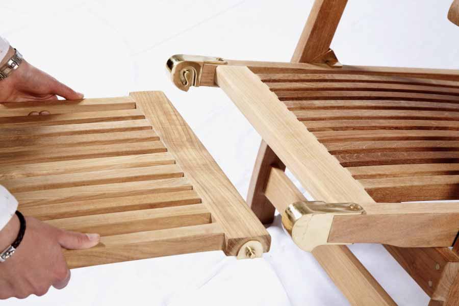 liegestuhl rollbar teak gartenm bel von kai. Black Bedroom Furniture Sets. Home Design Ideas